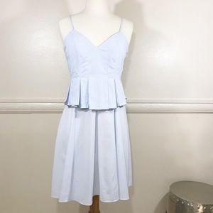 Romeo & Juliet Couture Striped Blue Sun Dress S